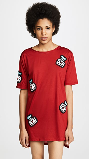 Michaela Buerger Oversize T-Shirt Dress - Red