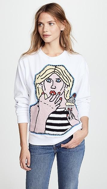 Michaela Buerger Girl with Cupcake Sweatshirt