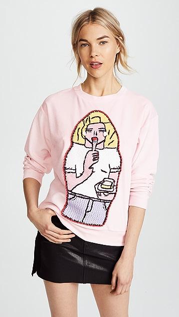 Michaela Buerger Girl with Cake Sweatshirt