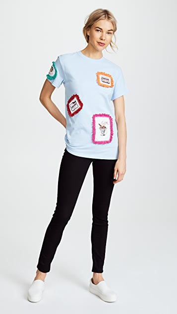 Michaela Buerger Patch Tee with Trim