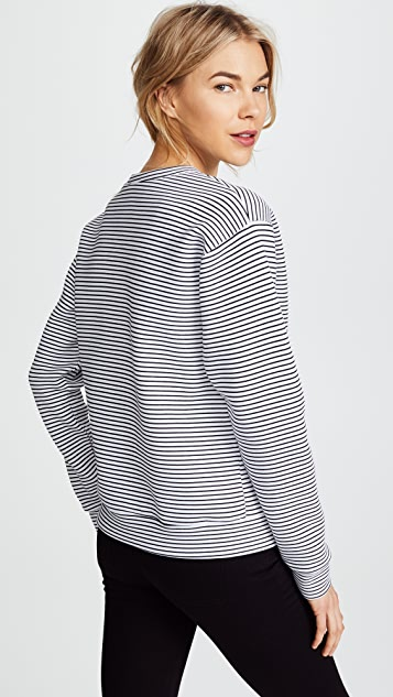 Michaela Buerger I Love Paris Perfume Bottle Striped Sweatshirt