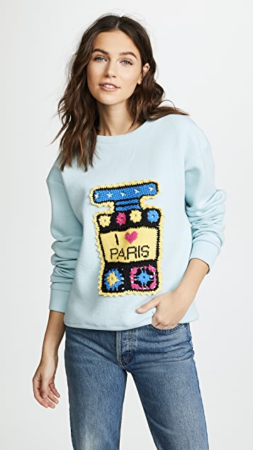 Michaela Buerger I Love Paris Multi Perfume Bottle Sweatshirt