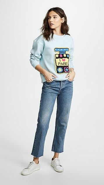 Michaela Buerger I Love Paris Multi Perfume Bottle Sweatshirt