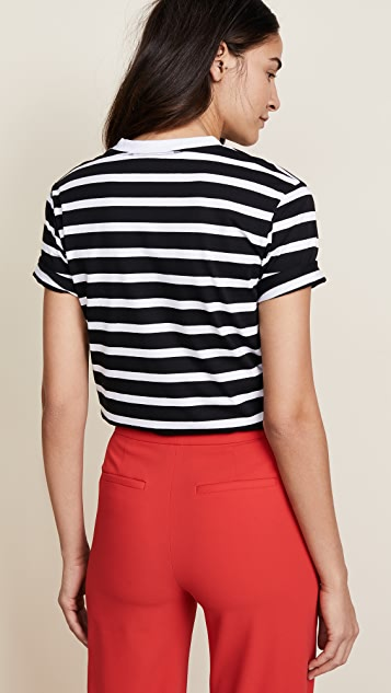 Michaela Buerger Vegan Patch Striped Tee