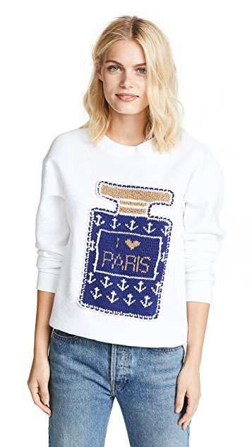 Michaela Buerger Perfume Bottle Sweater with Anchors