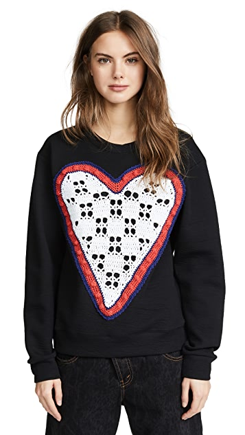 Michaela Buerger Crochet Heart Sweater