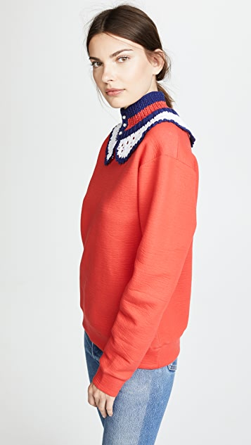 Michaela Buerger Crochet Neck Sweater