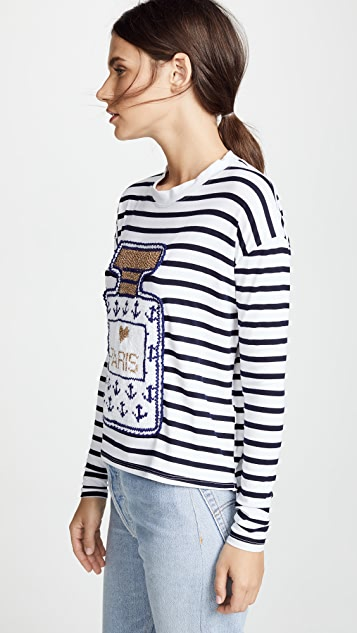 Michaela Buerger Perfume Bottle Shirt with Anchors