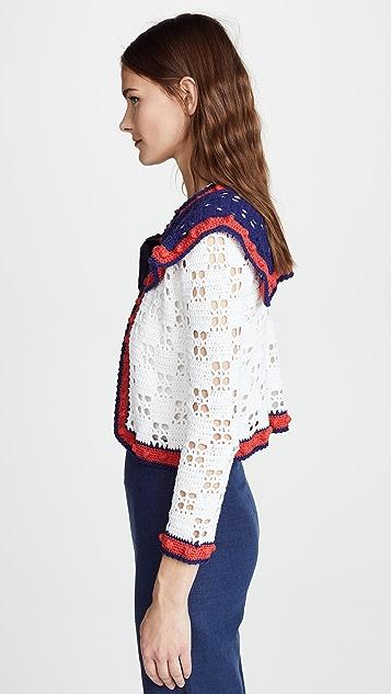Michaela Buerger Crochet Tie Front Cardigan