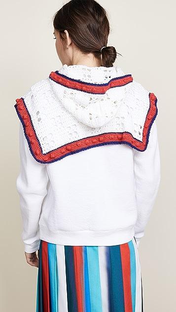 Michaela Buerger Crochet Detail Hoodie