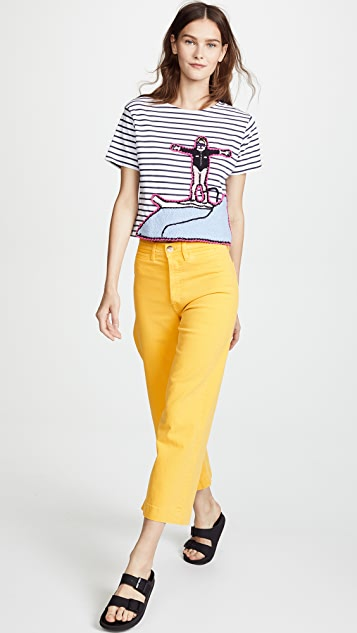 Michaela Buerger Cropped Surfing Tee