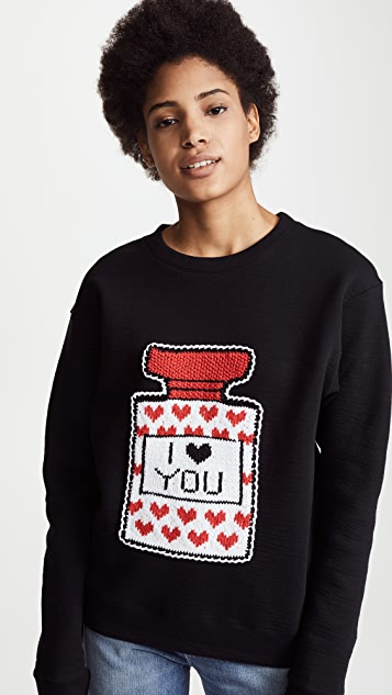 Michaela Buerger I Love You Perfume Bottle Sweatshirt