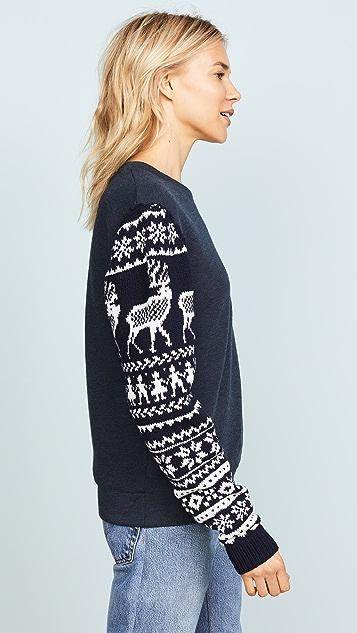 Michaela Buerger Scandinavian Knit Sleeve Sweatshirt