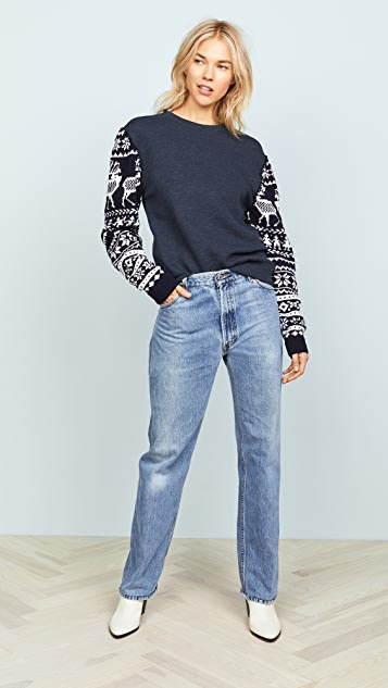 Michaela Buerger Scandinavian Knit Sleeve Sweatshirt