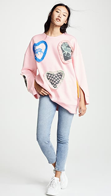 Michaela Buerger Scandanavian Love Sweatshirt