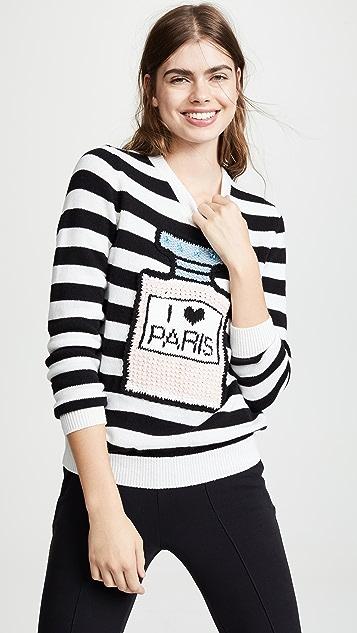 Michaela Buerger I Love Paris Striped Sweater
