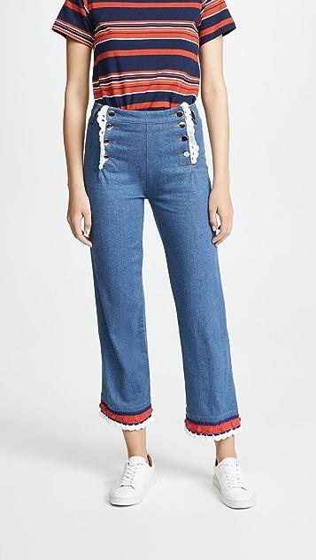 Michaela Buerger Sailor Button Jeans