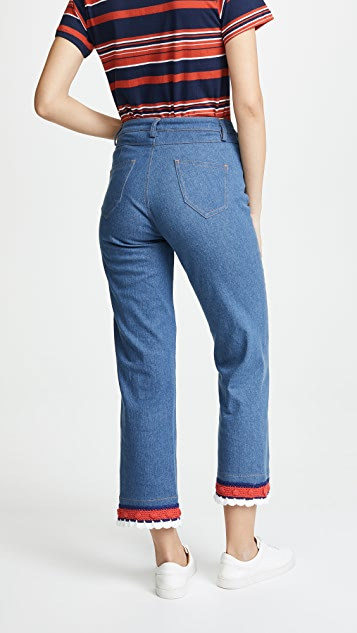 Michaela Buerger Sailor Button Jeans