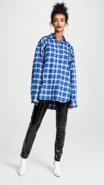 Michaela Buerger Plaid Oversized Perfume Bottle Flannel Shirt