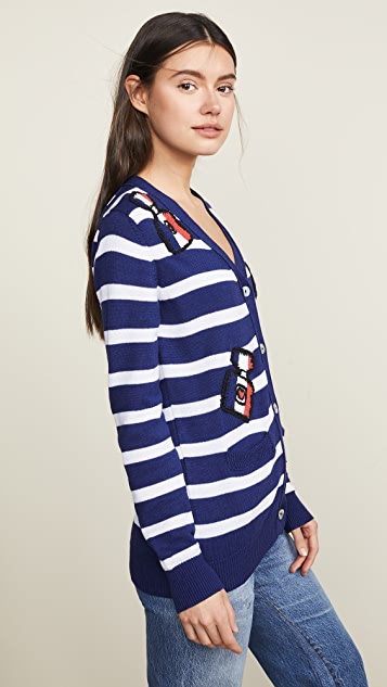 Michaela Buerger Striped I Love Paris Cardigan