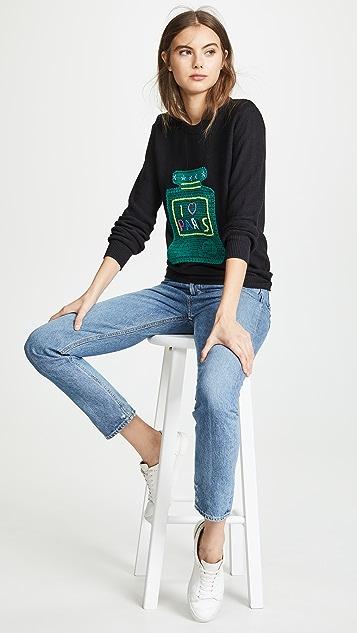 Michaela Buerger I Love Paris Big Perfume Bottle Sweater