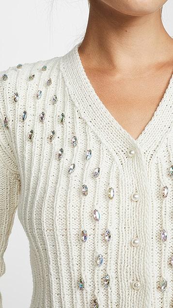 Michaela Buerger Кашемировый кардиган ручной вязки с кристаллами