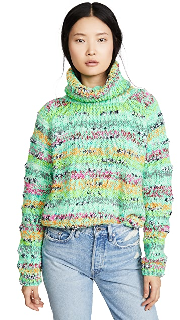 Michaela Buerger Cropped Rollback Sweater