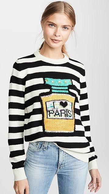 Michaela Buerger I Love Paris 条纹毛衣