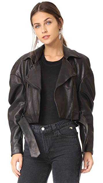 Magda Butrym Tampa Oversized Leather Jacket