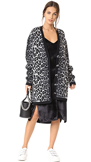 Magda Butrym Leopard Oversized Cardigan