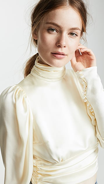 Magda Butrym Noto Cream Blouse