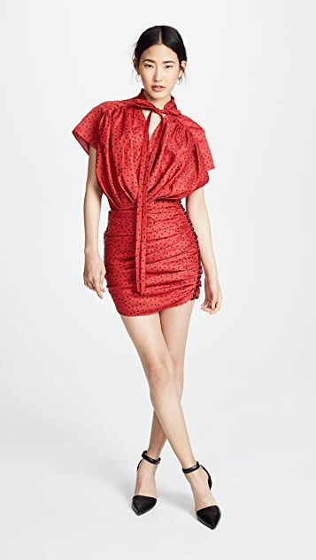 Magda Butrym Reno Tie Neck Mini Dress