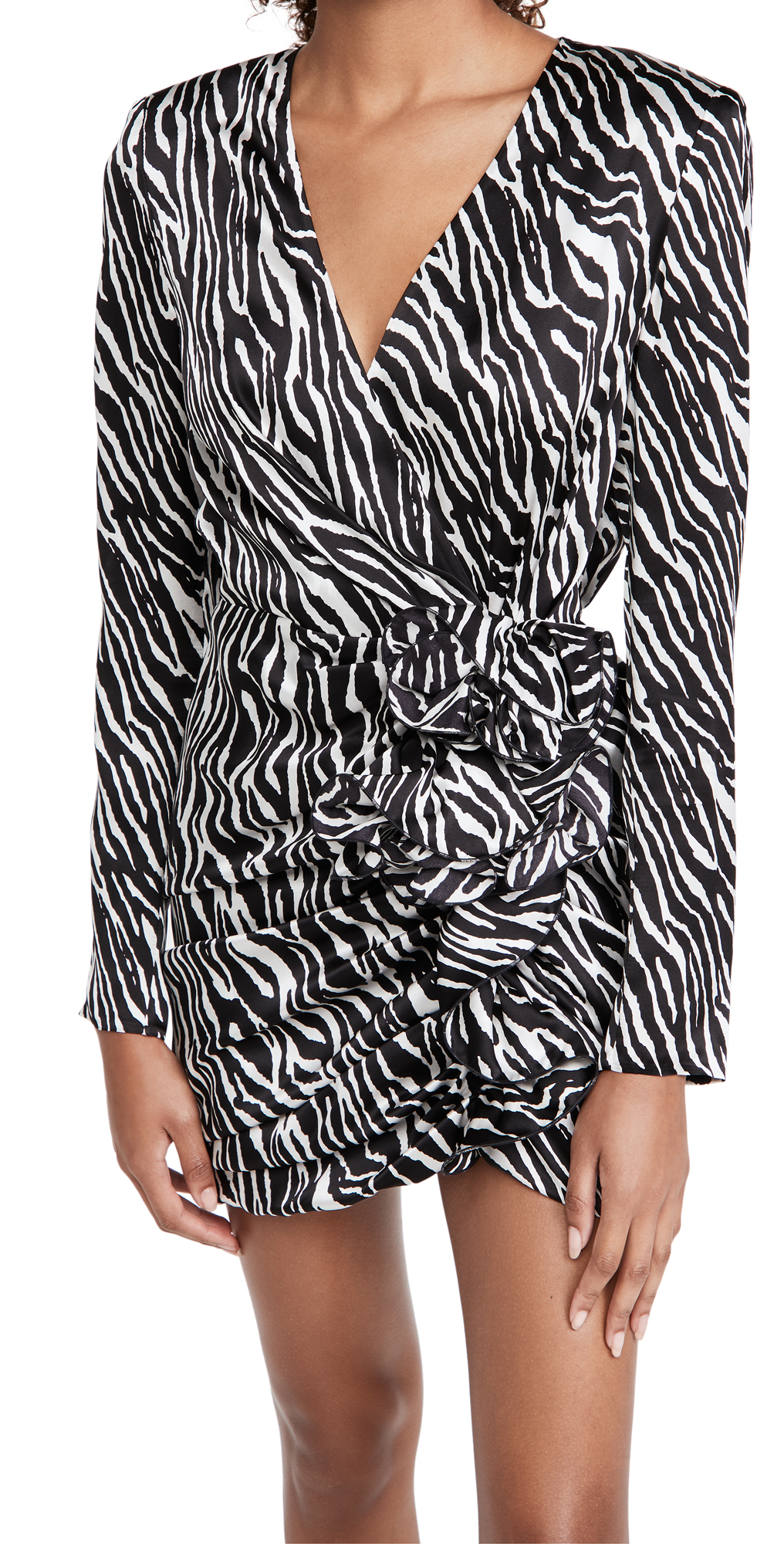 Magda Butrym Animal V Neck Mini Dress