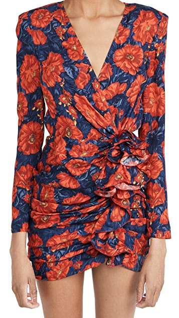Magda Butrym Floral V Neck Mini Dress