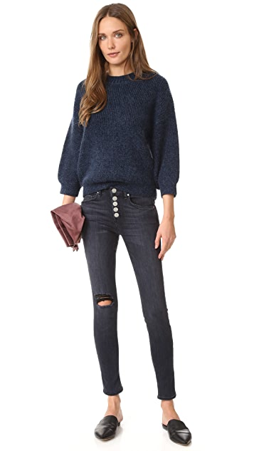 McGuire Denim Newton Skinny Jeans with Exposed Button Fly