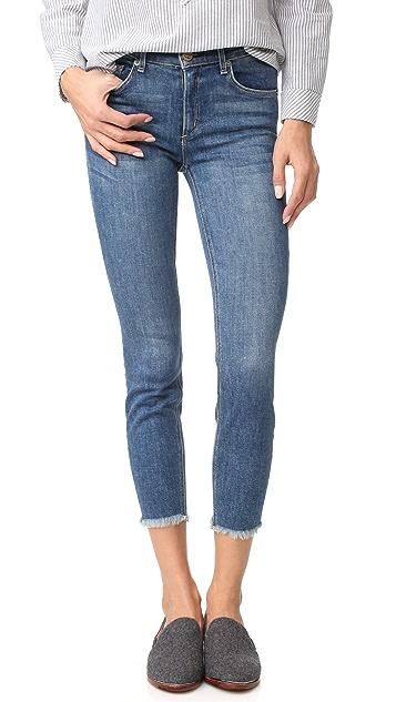 McGuire Denim Cropped Newton Skinny Jeans with Raw Hem