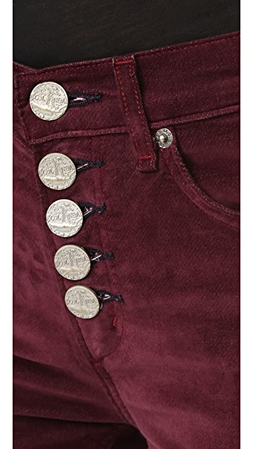 McGuire Denim Newton Skinny Pants with Exposed Button Fly