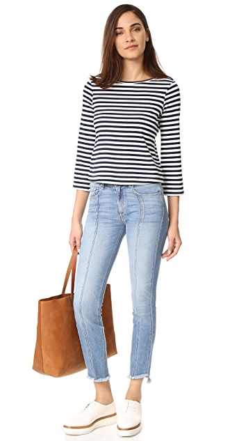 McGuire Denim Seamed Valetta Straight Jeans