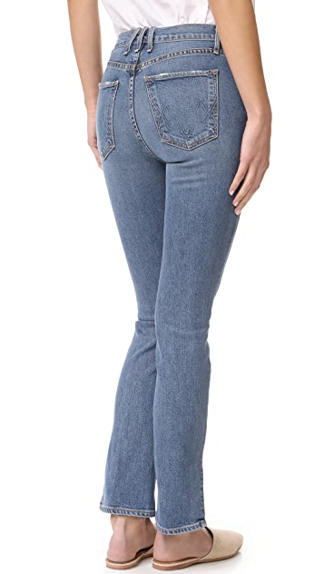 McGuire Denim Valetta Straight Jeans with Slit Hem