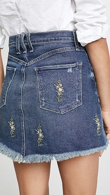 McGuire Denim Izabel Embroidered High Rise Miniskirt