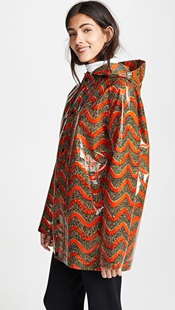 Maison Chateau Rouge Printed Rain Coat