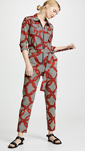 Maison Chateau Rouge Combi Work Jumpsuit