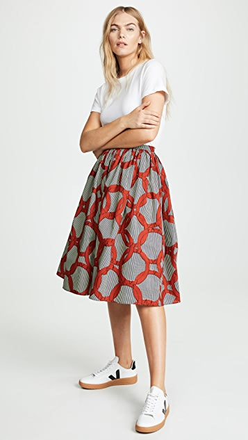 Maison Chateau Rouge Fronce Skirt