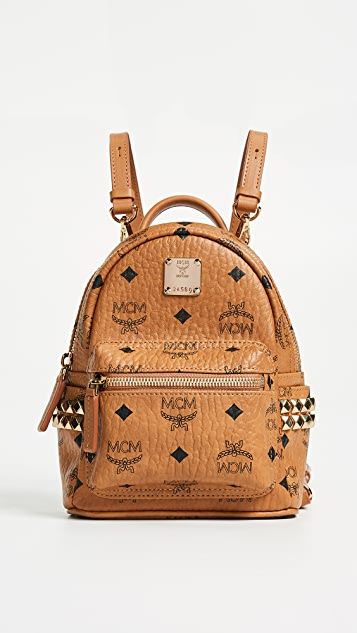 MCM Side Stud Baby Stark Backpack