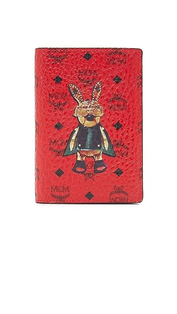 MCM Rabbit Passport Holder