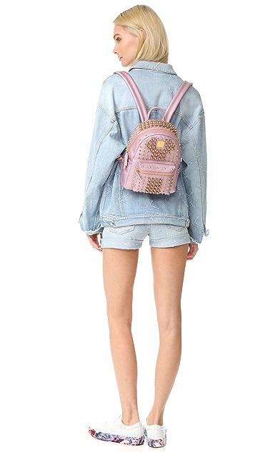 MCM Stark Pearl Stud Backpack