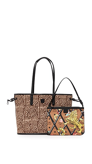 MCM Visetos Reversible Shopper Tote