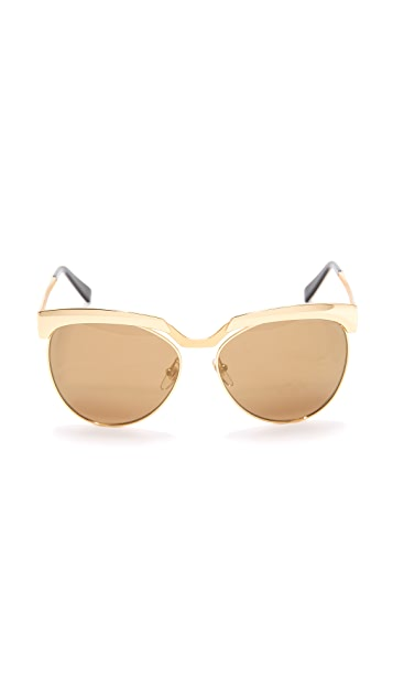 MCM Metal Brow Bar Sunglasses