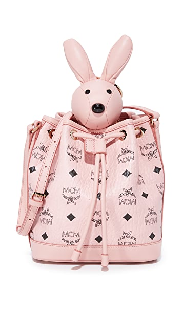 MCM Rabbit Drawstring Bag