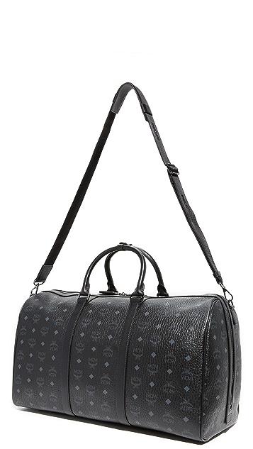 MCM Visetos Large Duffel Bag